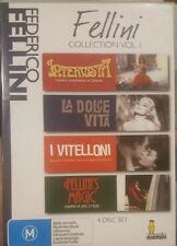 FEDERICO FELLINI COLLECTION VOL 1 RARE DVD BOX SET INTERVISTA LA DOLCE VITA FILM