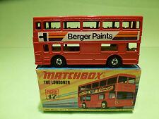 MATCHBOX LESNEY 17 BUS LONDONER - RARE SELTEN - MINT CONDITION IN BOX