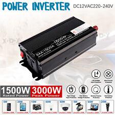 Convertisseur pur sinus 12V 230V/1500W 3000W Onduleur dc to ac Transformateur