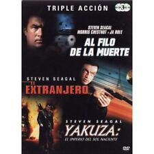 TRIPLE ACCION - SETVEN SEAGAL - AL FILO DE LA MUERTE - EL EXTRANJERO - YAKUZA [D