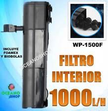 FILTRO INTERIOR 1000L/H MULTIFASES 18W ACUARIO Filtración de FOAMEX y BIOBOLAS
