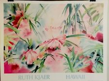 FINE ART LITHOGRAPH: Hawaii By Ruth Kjaer 32 By 24
