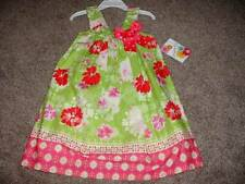 Jessica Ann Toddler Girl Pink Green Floral Bow Dress Size 2T 2 NWT Summer Spring