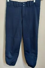 Mizuno Softball Pants Navy Blue Womens Size Small Belt Loops