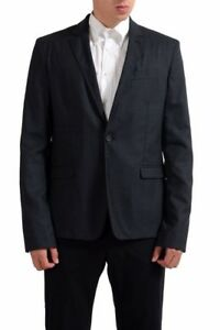 C'N'C National Collection 100% Wool Gray One Button Men's Blazer US 42 IT 52