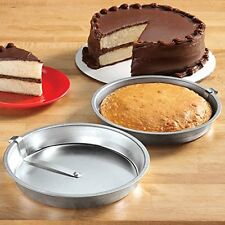 "Tinplate 9"" Round Easy Release Cake Pan Set Of 2 Special Releaser 360o Sweep"