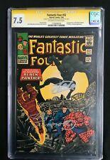 Fantastic Four #52 1st Black Panther Stan Lee Joe Sinnott CGC SS 7.5 #1150636036