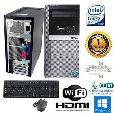 Dell 960 Tower Windows 10 hp 64 Computer Intel Core 2 Duo 8GB RAM 240GB SSD HDMI
