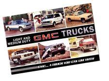 1985 GMC TRUCK Brochure:PickUp,S-15,Safari,Jimmy,Caballero,Suburban,Vandure Van,