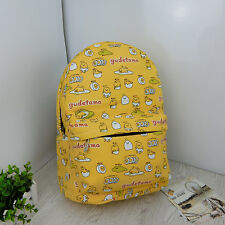 New Cartoon Gudetama yellow egg mix backpack shoulder bag laptop bags rucksack