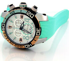 MULCO WOMEN SWISS MADE CHRONOGRAPH SILICONE BAND MW1-74197-413