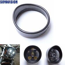 """5.75"""" 5 3/4 in Visor Style Headlamp Trim Ring for Harley Sportster 883 1200 Dyna"""