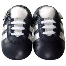 Freeshipping Littleoneshoes Soft Sole Leather Baby Shoes Girl Sport Navy 12-18M