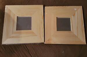 "NEW Ikea Malma Natural Wood 10"" Mirror Craft Frame 2pc Lot NIP"