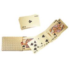 54pcs waterproof pvc playing cards set golden box poker card magic tricks toolSC