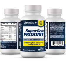 Super Beta Prostate Supplement -Reduce Frequent Urges to Urinate- NEW -FREE S&H