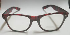 Nerd Glasses Plaid Frames with Clear Lenses 1950's Adult One Size
