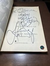 Signed It's Not about the Bike Lance Armstrong Live Strong Inscription Holo COA