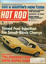 February 1970 Hot Rod Magazine Firebird Cover