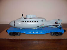 LIONEL #52273 LCCA FLAT CAR WITH UNITED STATES NAVY SUBMARINE