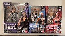 WWE S.h Figuarts Lot Undertaker The Rock Stone Cold Steve Austin Figures