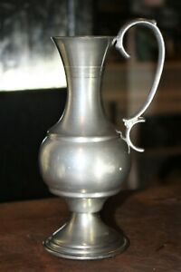 """Pewter Pitcher Vintage B&P- 6 3/4"""" Tall"""