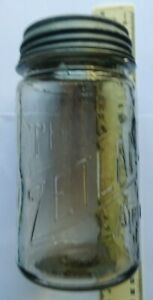 The Zetland Airtite preserving jar. Appears to be 1-2 pints capacity.