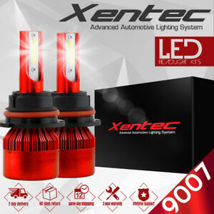 XENTEC LED HID Headlight kit 9007 HB5 White for 1999-2004 Ford F-250 Super Duty