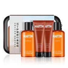 MARTIN Men's Shower Gel, Shampoo, Lotion & Face Wash Skincare 4 Pcs Travel Kit