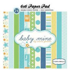 Blocco 24 Carte Scrapbooking 15x15 cm Baby Mine Boy © Carta Bella CB-BMB27015