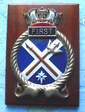 Métal sous-marin 1er Escadron navire crest plaque bouclier