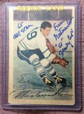 1953-54 PARKHURST #10 ERIC NESTERENKO SIGNED ROOKIE CARD w/ 2 INSCRIPTIONS