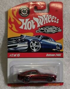 Hot Wheels 2008 Modern Classic's Datsun 240Z red in package. Ships in protecto.
