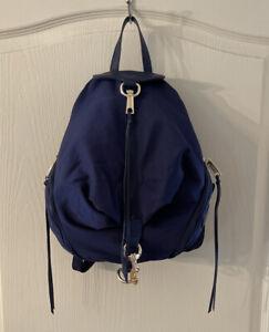 Rebecca Minkoff Julian Nylon Backpack In Navy Blue Gold Hardware NWT