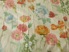 Vtg Hardy Fabrics Carnations Floral Pair Curtains & Pelmet Thick Heavy