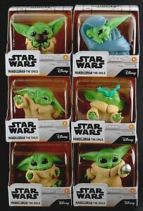 Star Wars The Mandalorian Bounty Collection Child Baby Yoda Figures Set of 6 NEW