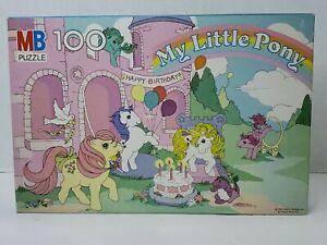 Vintage 1985 My Little Pony - Happy Birthday - 100 Piece Puzzle Complete