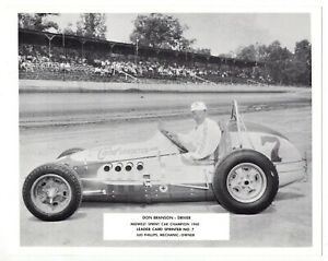 """1960s """"Leader Card Sprinter"""" Midwest Sprint Car Champion Picture Card: Branson"""