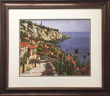 "Guido Borelli ""Bellagio Park"" Newly CUSTOM FRAMED Hand Signed Lithograph ITALY"