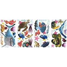 FINDING NEMO wall sticker 44 Disney decal Dory Crush Squirt Shark Fish scrapbook
