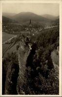 Herrenalb Schwarzwald Ansichtskarte ~1930/40 Panorama Herrenalb mit Falkenstein