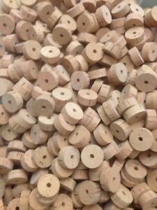 """Cork Rings, 50 Extra Select Natural, 1 1/4"""" x 1/2"""" x 1/4"""" Hole"""