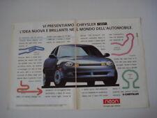 advertising Pubblicità 1995 CHRYSLER NEON