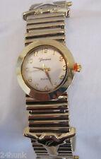 NEW Ladies GENEVA Longhorn Bracelet Watch, Gold + Free Bonus Battery