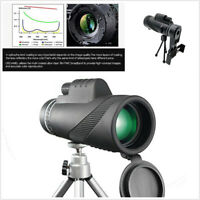 Black Monocular Handheld Telescope Night Vision Military HD Professional Hunting