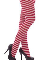 40 DENIER OPAQUE STRIPE STRIPED PRINT Fashion TIGHTS FANCY DRESS O/S XL BNWT