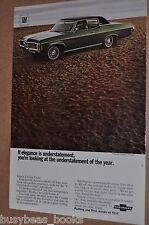 1969 Chevrolet advertisement, Chevrolet Impala Custom Coupe, Chevy