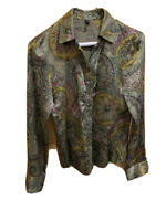Vintage Morrissey Silk paisley blouse women's Size Small