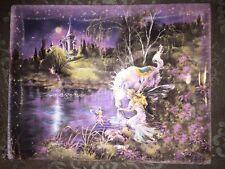 "Mimi Jobe ""Imagine"" Plate #3019 Unicorn Fairies, 2nd Issue In The Dream Castles"