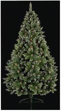 1.8m PVC Rocky Mountain per albero di Natale Con Coni & NEVE Punta RAMI NATALE